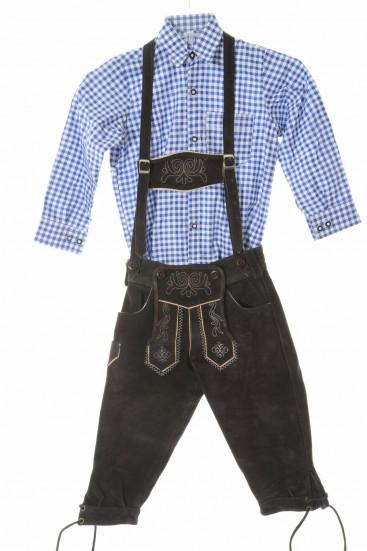 Kids Bundhosen & Blue Shirt Set