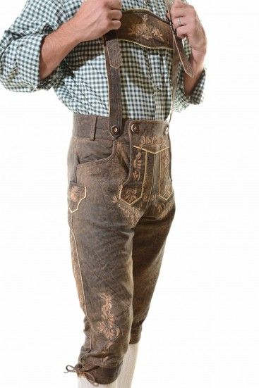 HAMBURG LEDERHOSEN - ANTIQUE BROWN