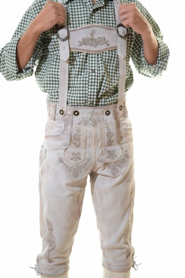 VIENNA LEDERHOSEN - ANTIQUE WHITE
