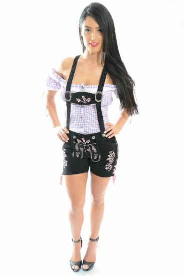 Womens Lederhosen Black/Pink