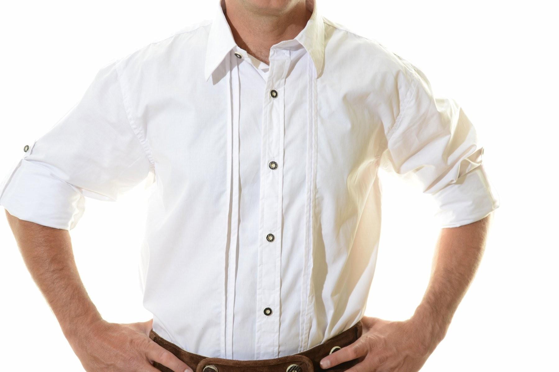 Lederhosen Shirt White Bavarian Costume Tracht Shirt