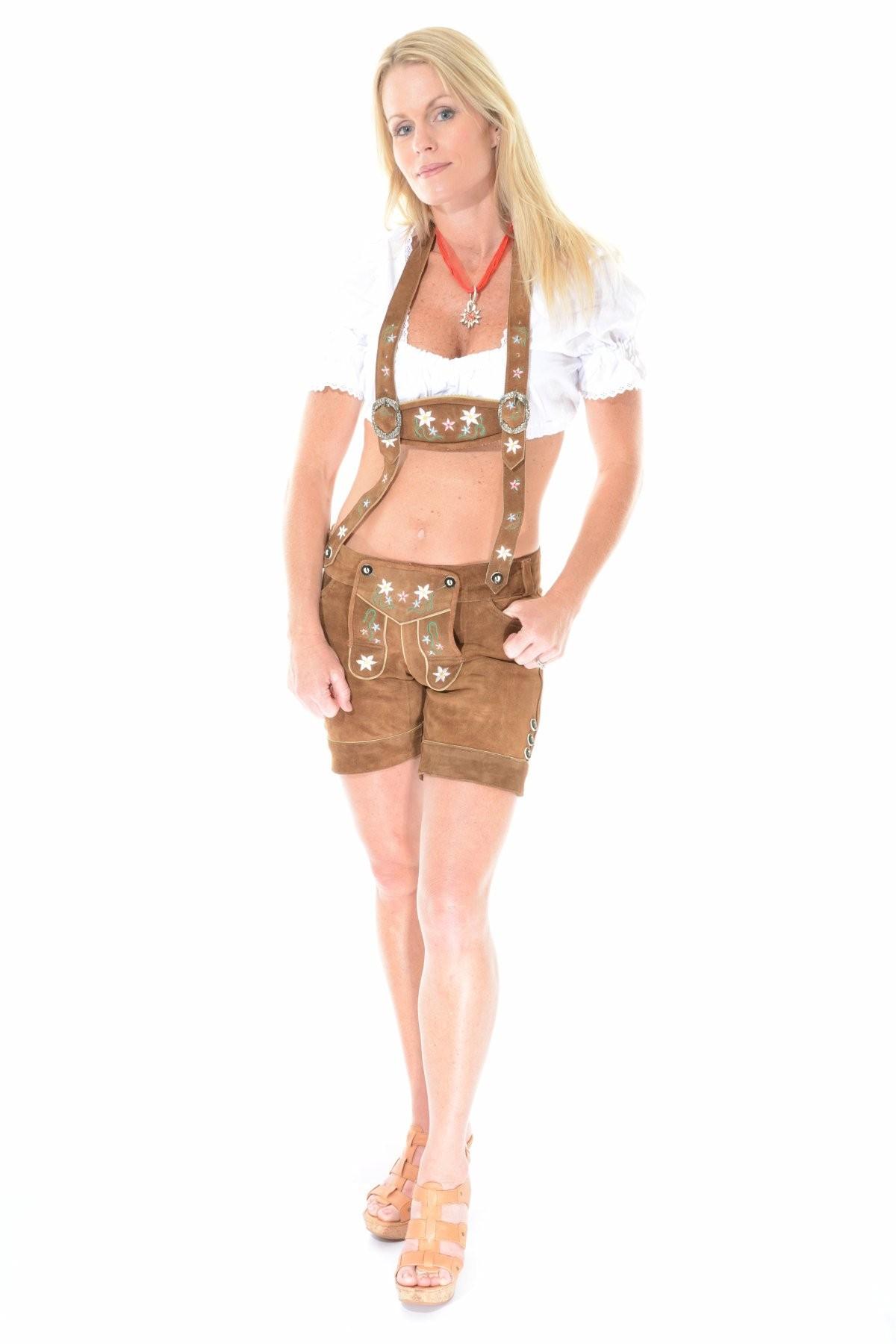 Womens Lederhosen Brown  sc 1 st  Lederhosen4u & Womens Lederhosen | Female Lederhosen | Female Lederhosen Costume