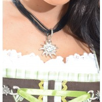 "Dirndl Necklace ""Edelweiss"" silver"