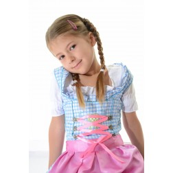 2 pc Kids Dirndl Blue