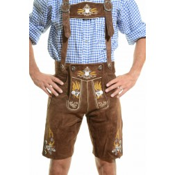 OKTOBERFEST LEDERHOSEN DARK BROWN